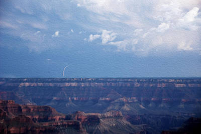 Lightnings Of Arizona Photograph - Lightning Over The Grand Canyon  by Tracy Winter