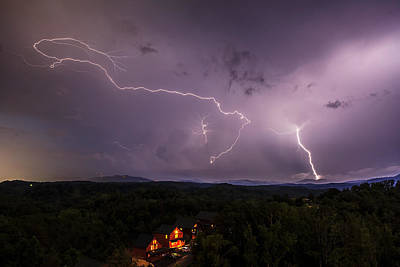 Photograph - Lightning Over The Smokys by Keith Allen