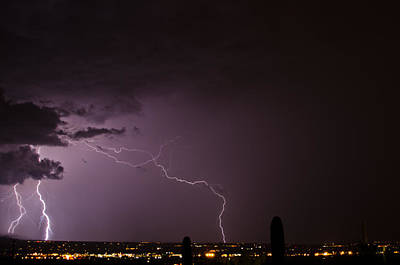 Lightshow Photograph - Lightning Over Tucson by Stacy Fortson