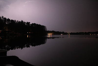 Lightning Over Water Art Print by Sarah Klessig