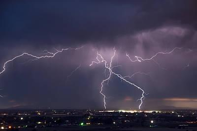 Wind Power Photograph - Lightning Power by Leland D Howard