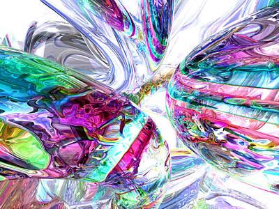 Lightning Digital Art - Lightning Prism Abstract by Alexander Butler