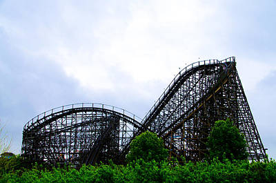 Rollercoaster Photograph - Lightning Racer - Hershey Park by Bill Cannon