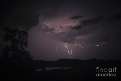 Photograph - Thunderstorm Lightning Spider by Reid Callaway