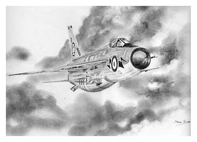 Drawing - Lightning by Steve Jones