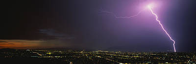 Lightning Bolt Photograph - Lightning Storm At Night by Panoramic Images