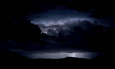 Natural Forces Photograph - Lightning Storm  by Saija  Lehtonen