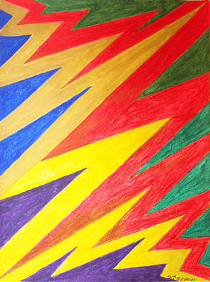 Abstract Patterns Painting - Lightning by Stormm Bradshaw