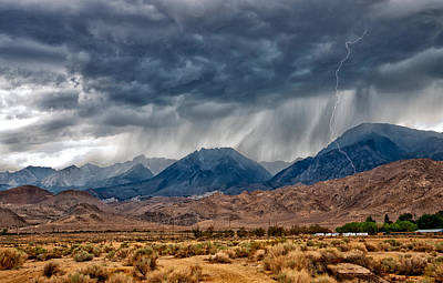 Storm Photograph - Lightning Strike by Cat Connor