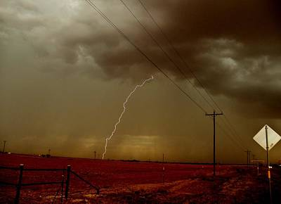 Photograph - Lightning Strike In Oil Country by Ed Sweeney