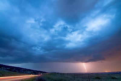 Lightning Strike Just Outside Of Lyons Colorado Art Print by James BO  Insogna