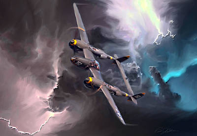 Lightning Strike Art Print by Peter Chilelli