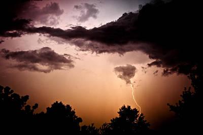Photograph - Lightning Strike by Sennie Pierson