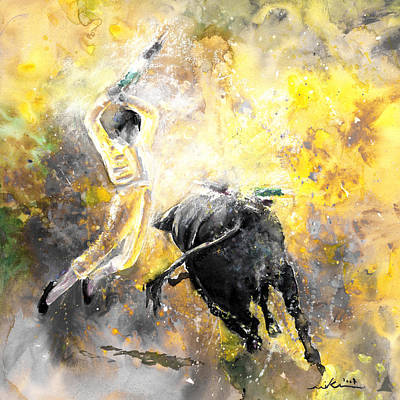 Torero Wall Art - Painting - Lightning Strikes Bis by Miki De Goodaboom