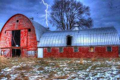 Lightning Strikes Art Print by David Simons