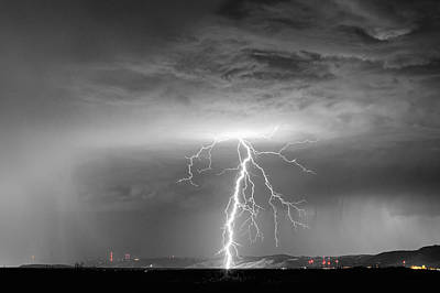 View Photograph - Lightning Strikes Following The Rain Bwsc by James BO  Insogna