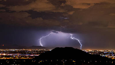 Lightning Bolt Photograph - Lightning Strikes Phoenix  by Saija  Lehtonen