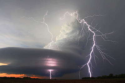 Lightning Strikes Twice Art Print by Chris Allington