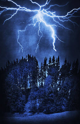 Surrealism Royalty-Free and Rights-Managed Images - Lightning by Svetlana Sewell