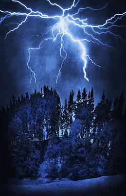 Lightning Art Print by Svetlana Sewell