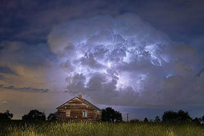 Lightning Thunderstorm Busting Out Art Print by James BO  Insogna