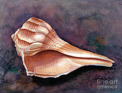 Painting - Lightning Whelk by Barbara Jewell
