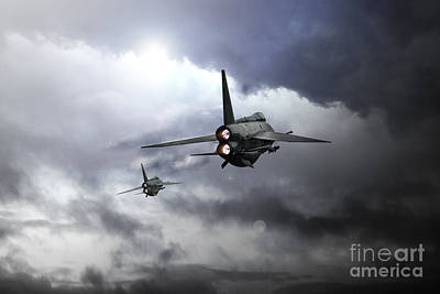 Lightning Digital Art - Lightnings by J Biggadike