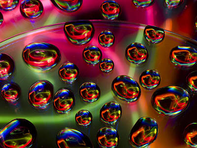 Lightpainting In The Drops Art Print by Evgeniya Gerasimova