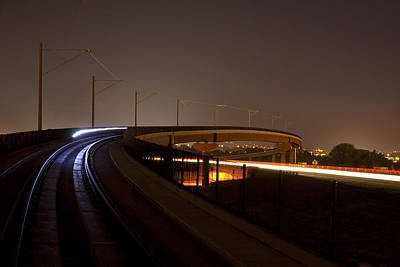 Target Threshold Nature - Lightrail Bridge by Angus Hooper Iii