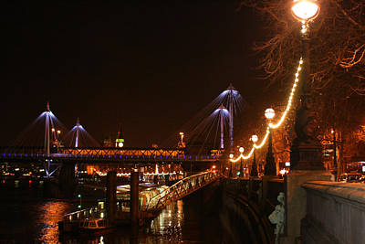 Financial Mixed Media - Lights Along The Thames by Doc Braham