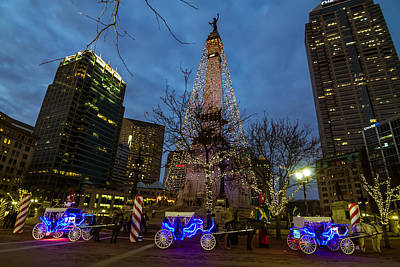 Photograph - Lights And Carriage Rides by Ron Pate
