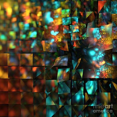 Fractal Geometry Digital Art - Lights And Fractures by Klara Acel