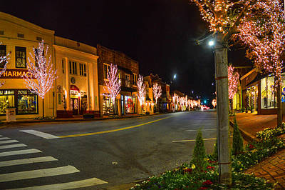 Digital Art - Lights Down Fairhope Ave by Michael Thomas