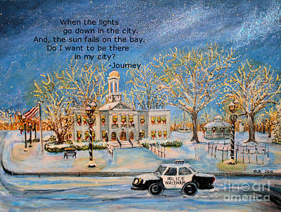 Waltham Painting - Lights Go Down  by Rita Brown