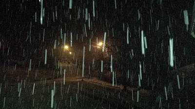 Photograph - Lights In A Blizzard by Kenny Glover