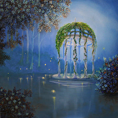 Painting - Lights In The Garden by David Kacey
