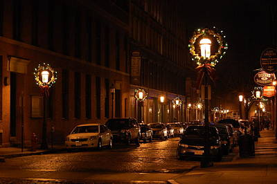 Lights Lowell Ma At Christmas II Art Print