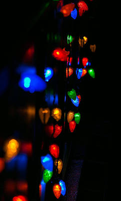 Photograph - Lights Of December In Abstract by E Faithe Lester