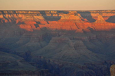 Canyon Photograph - Lights Of Grand Canyon At Sunset by HQ Photo