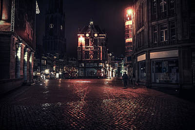 Photograph - Lights Of Night Utrecht 1. Netherlands by Jenny Rainbow