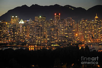 Photograph - Lights Of Vancouver by Brenda Kean