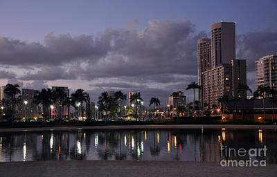 Photograph - Lights Of Waikiki by Gina Savage