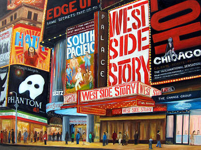 Lights On Broadway Art Print