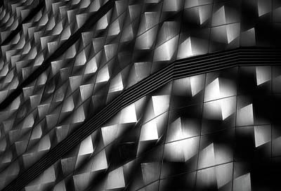 Germany Photograph - Lights On Facade Peeks by Hans-wolfgang Hawerkamp