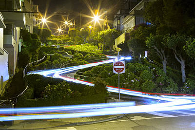Photograph - Lights On Lombard by Bryant Coffey