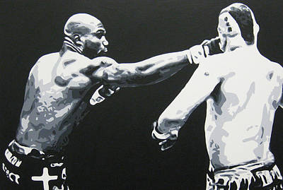Knockout Painting - Lights Out Chuck by Geo Thomson