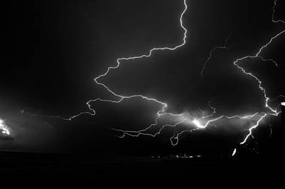 Lightning Bolt Photograph - Lights Over The Gulf by David Lee Thompson