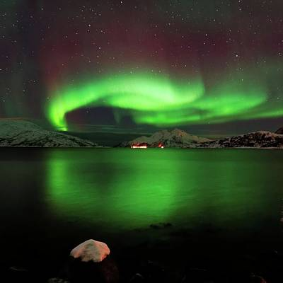 Photograph - Lights Over Vengsøya by John Hemmingsen