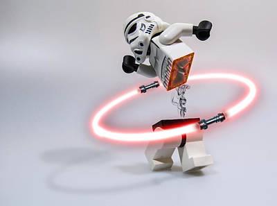 Lego Star Wars Digital Art - Lightsaber Hula Oops by Randy Turnbow