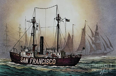 Lightship San Francisco Art Print by James Williamson